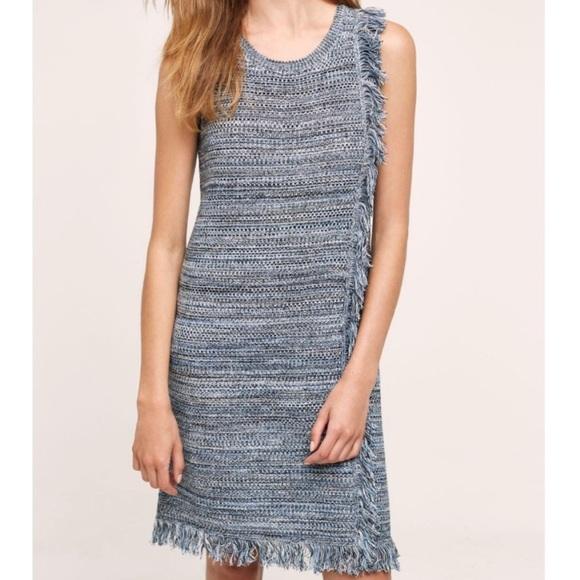 0fca13ee08 Anthropologie Dresses   Skirts - Anthro Holding Horses Blue Fringe Sweater  Dress